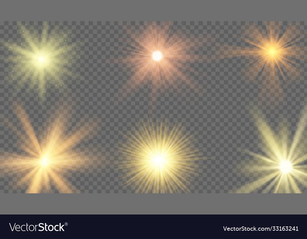 Sun ray effect starburst yellow shine sunlight