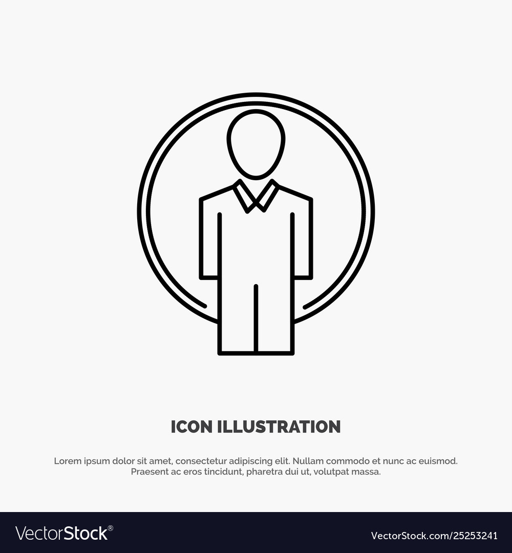 User id login image line icon
