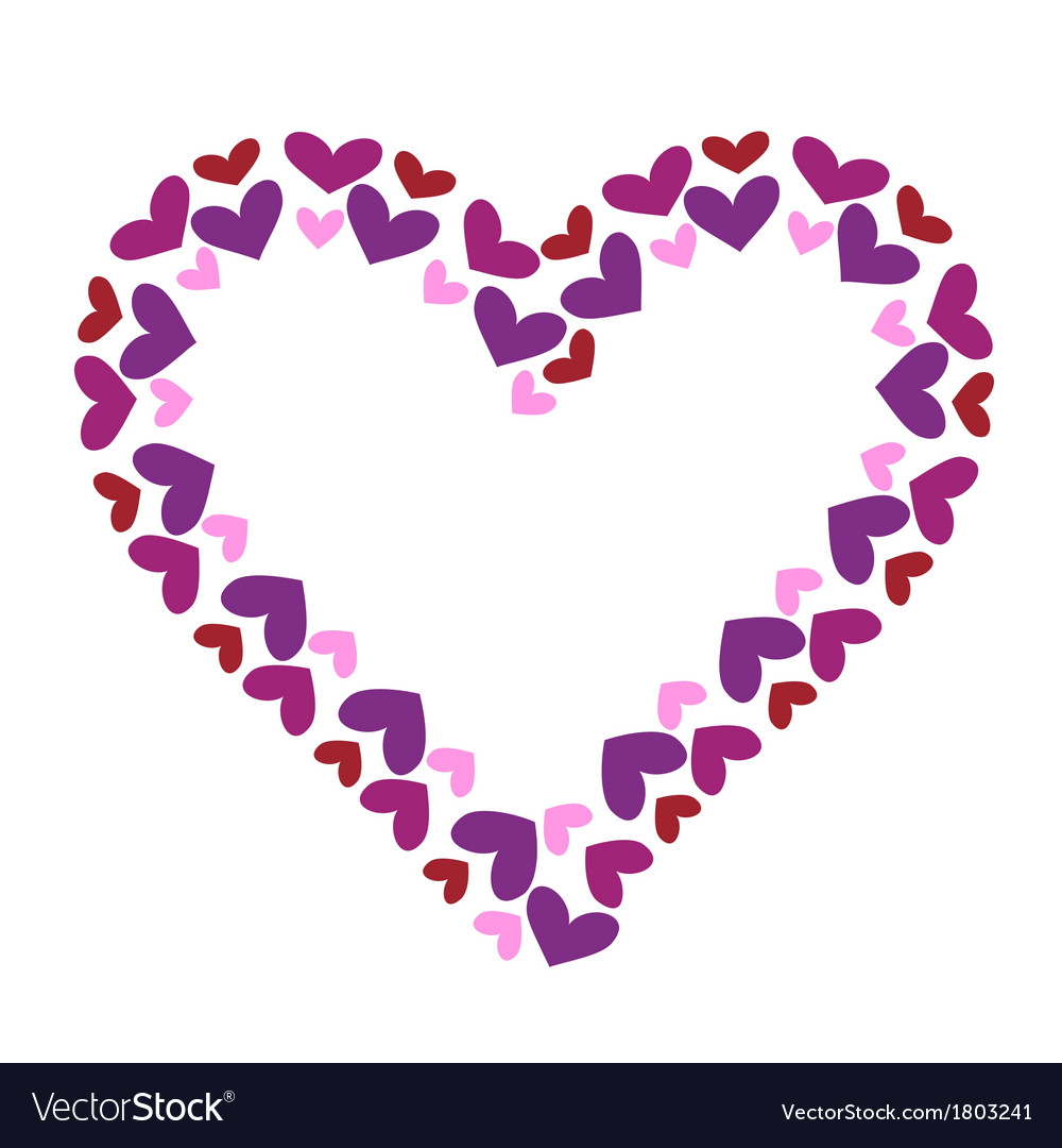 Valentine heart decorative frame vector image