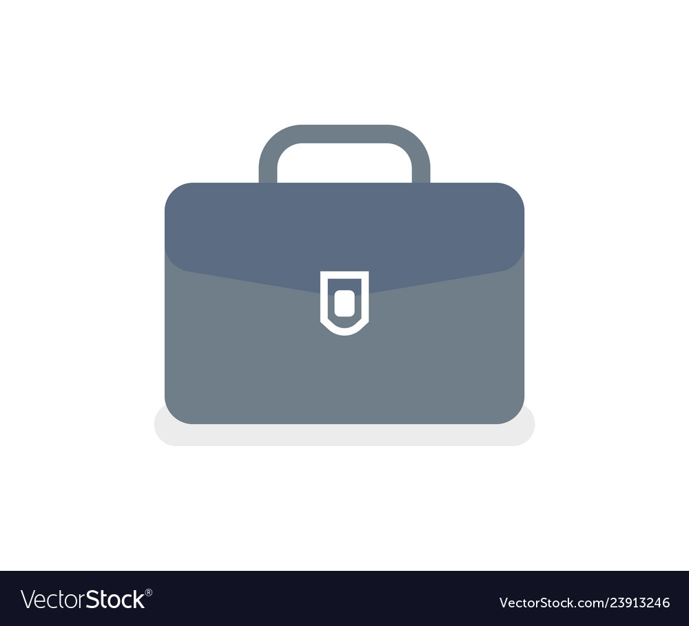 Briefcase with lock isolated icon case