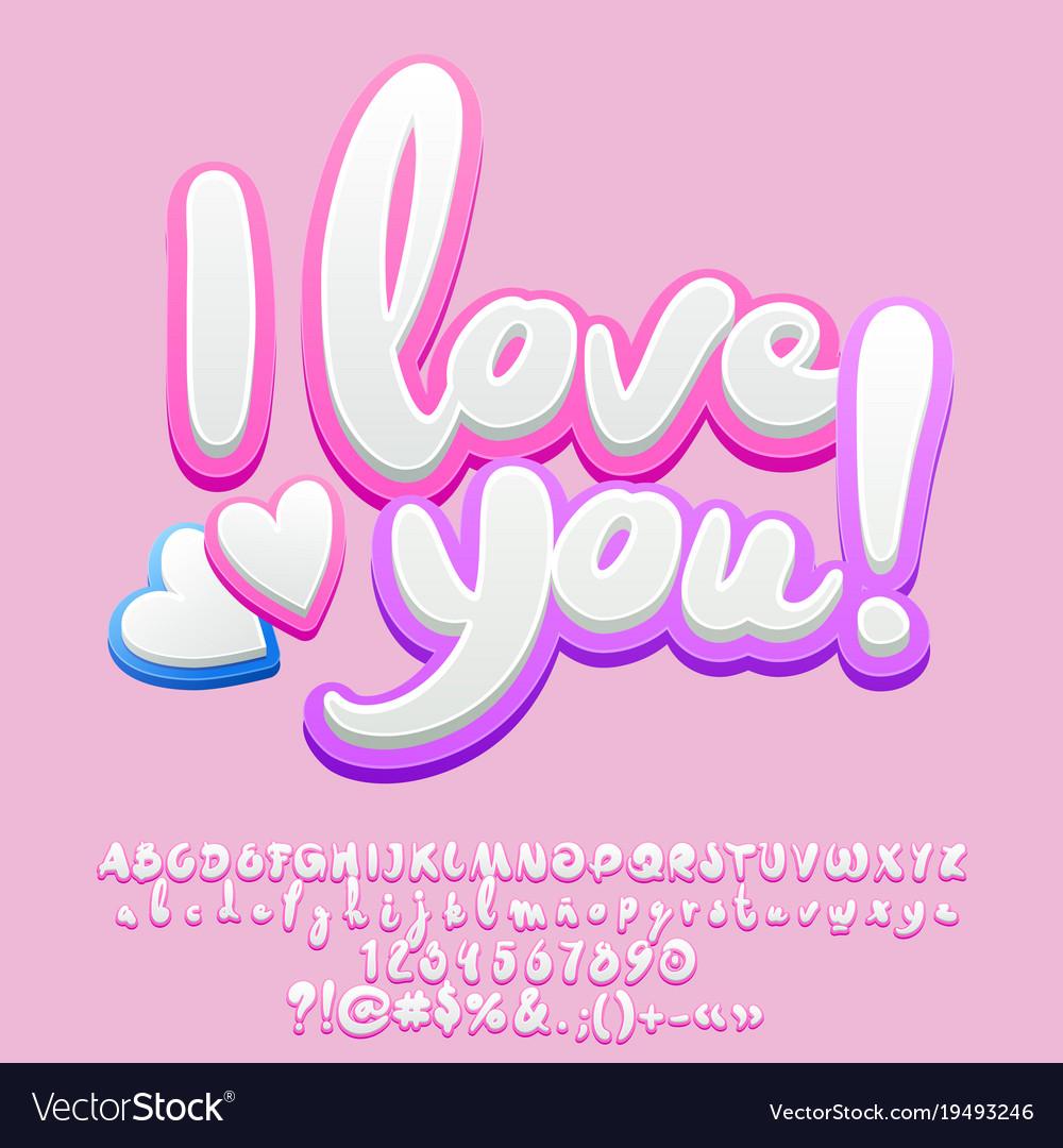 Cute tender greeting card i love you