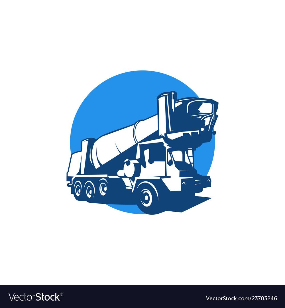 Heavy construction truck logo concept