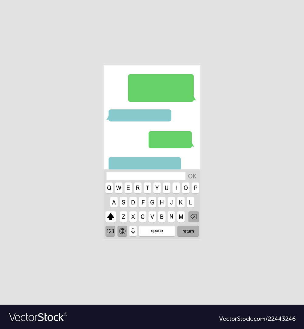 Keyboard with chat bubbles