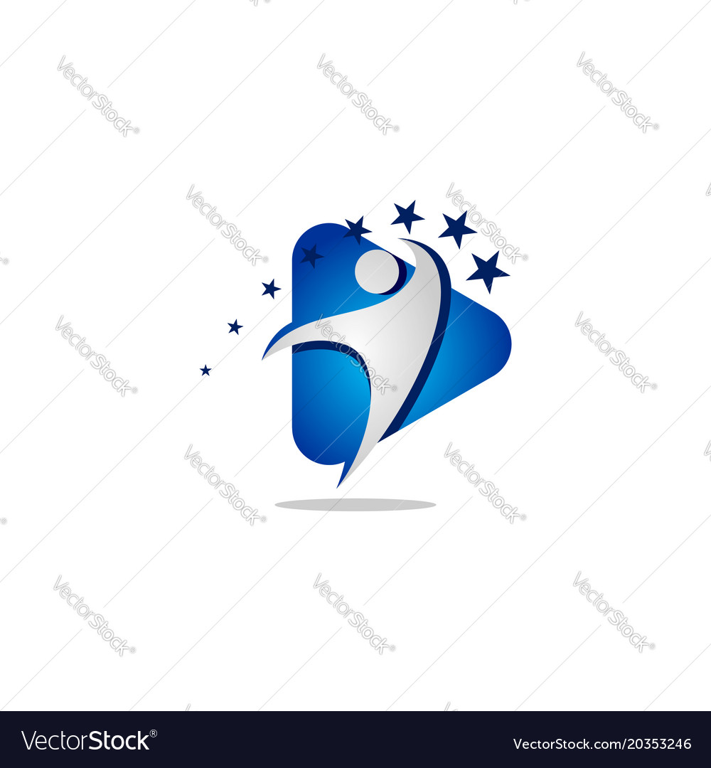 People media logo template vector image