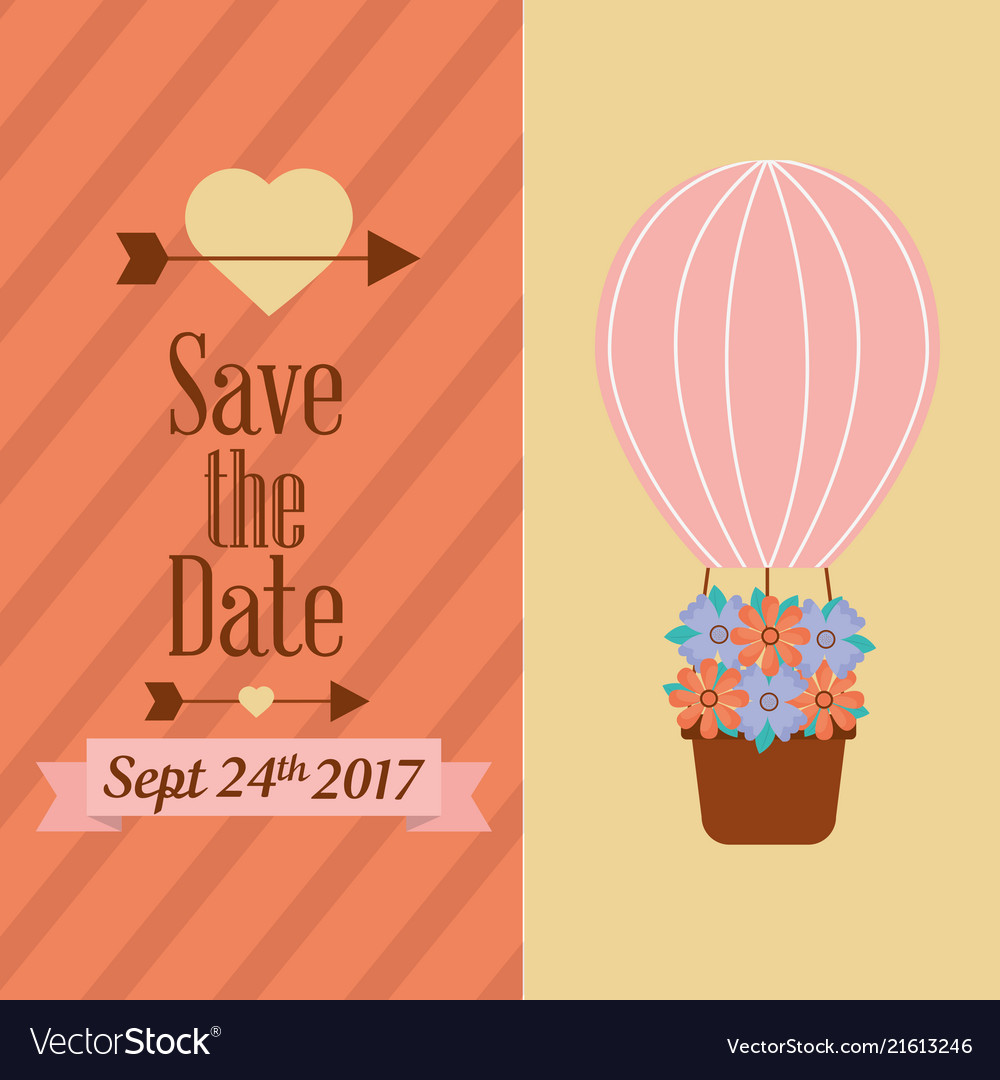 Save the date banners love romantic event