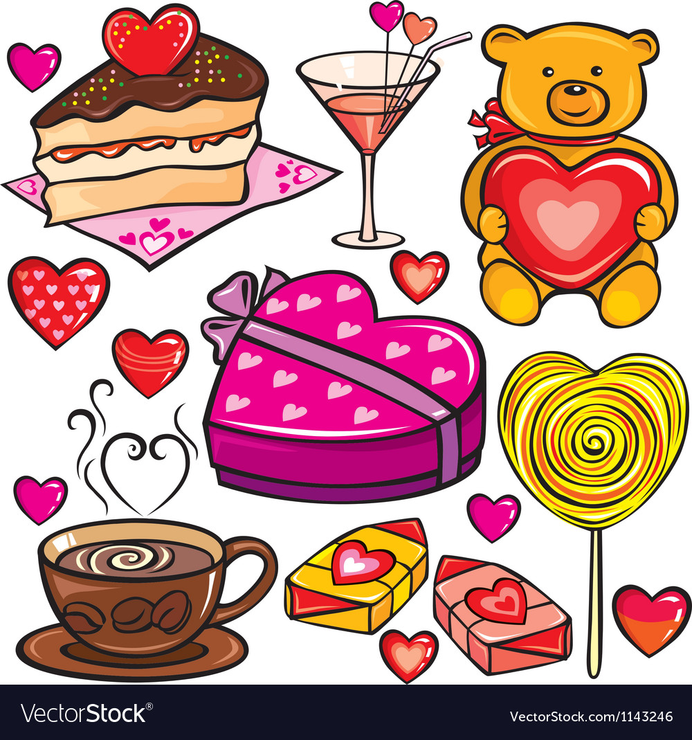 Valentines Day icon set