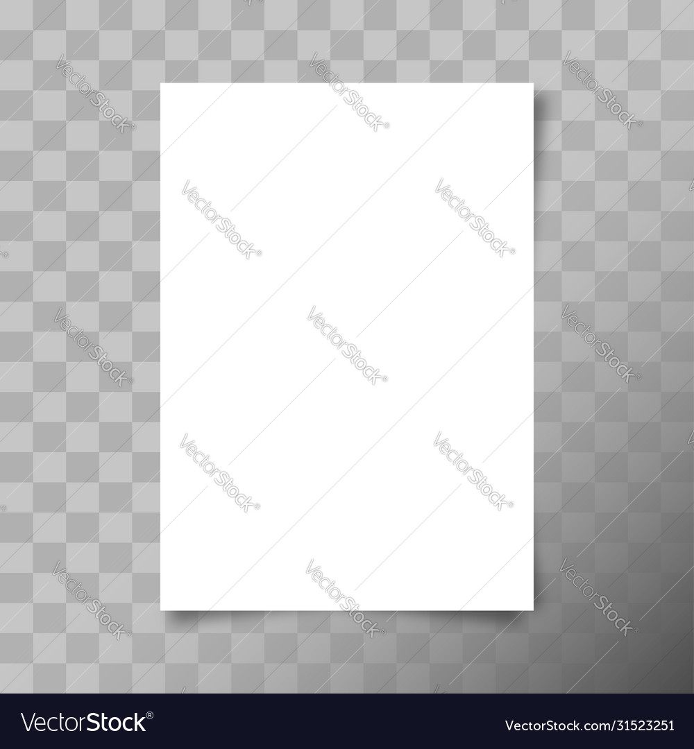 A4 format paper sheet white blank paper sheet vector