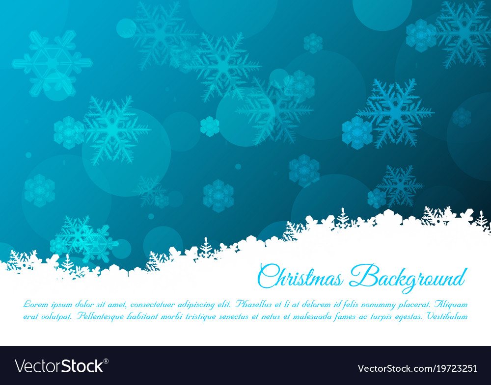 Christmas background with snowflakes in blue color