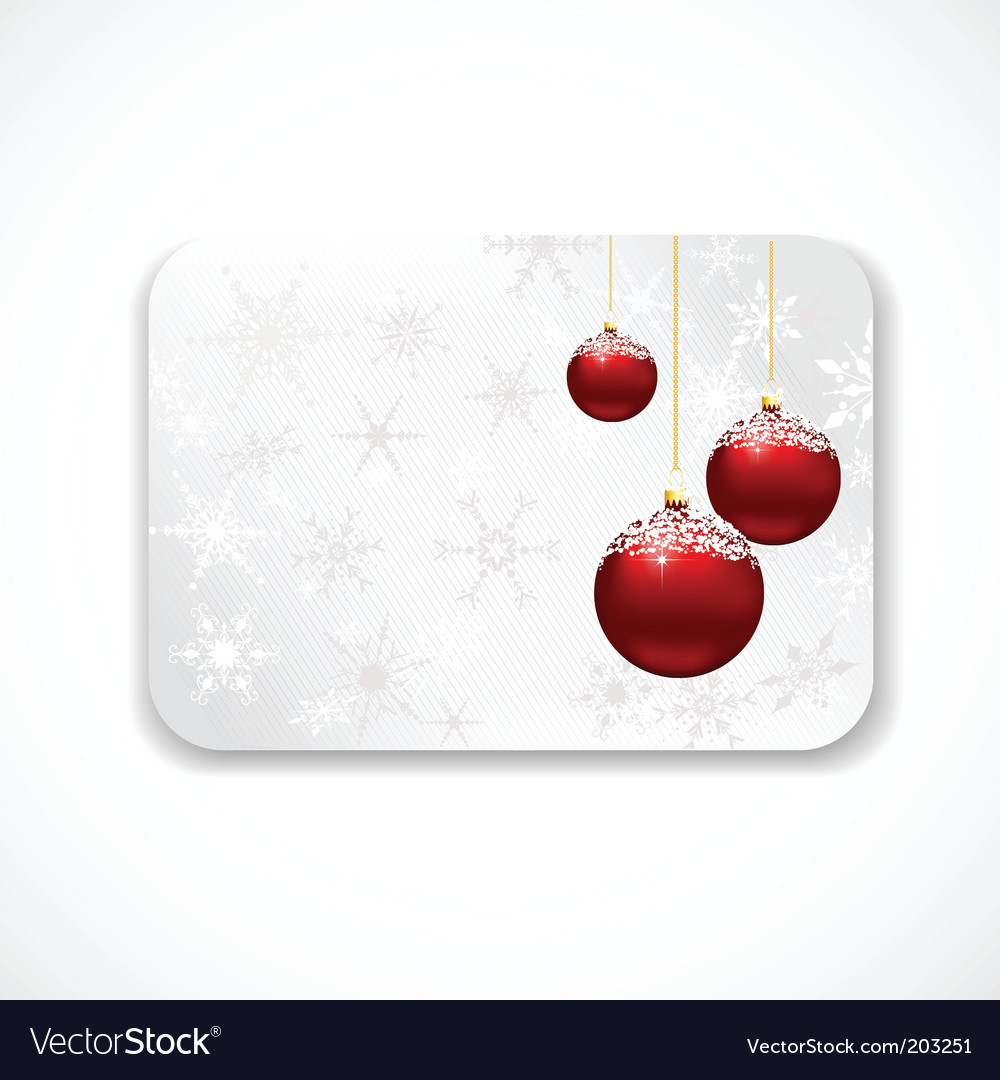 Christmas Gift Card Royalty Free Vector Image Vectorstock