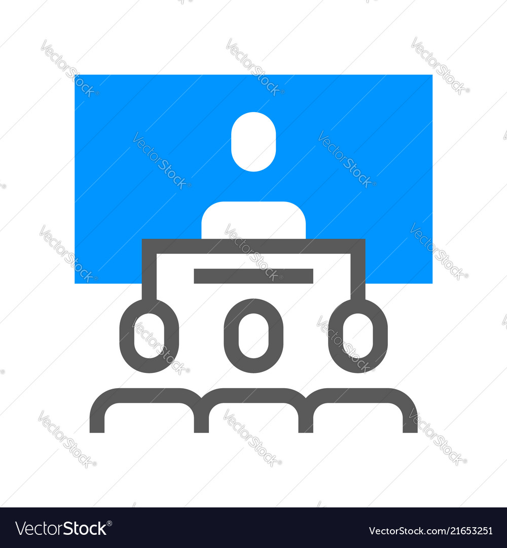 Conference flat line icon