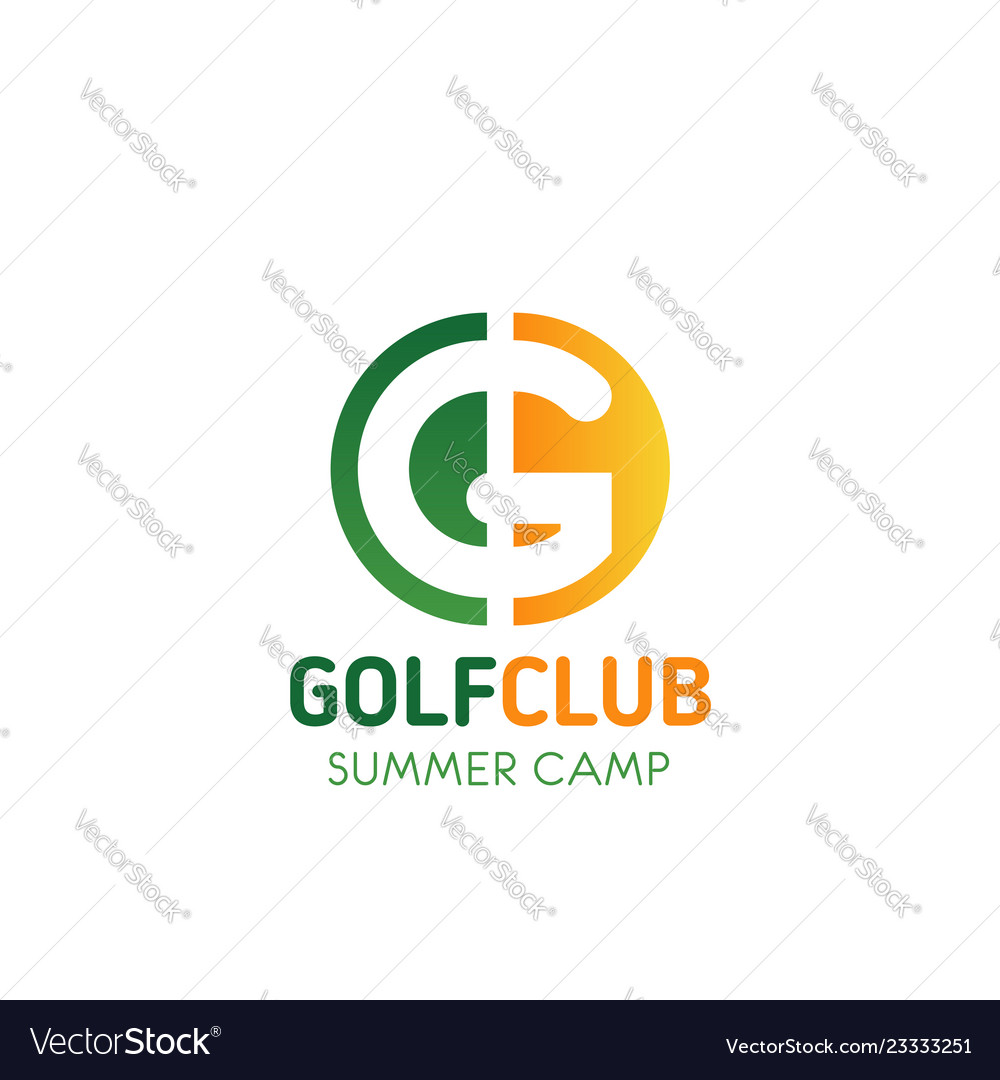Golf club summer camp letter g icon