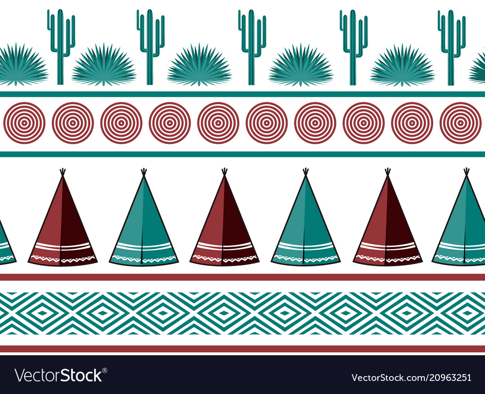 Indian tribal background simple flat wigwam