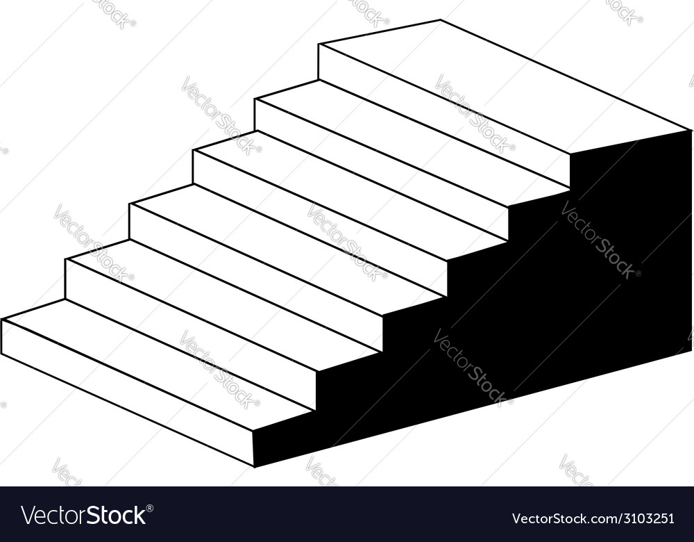 Isometric Object Stair Architectural 3d Object Vector Image