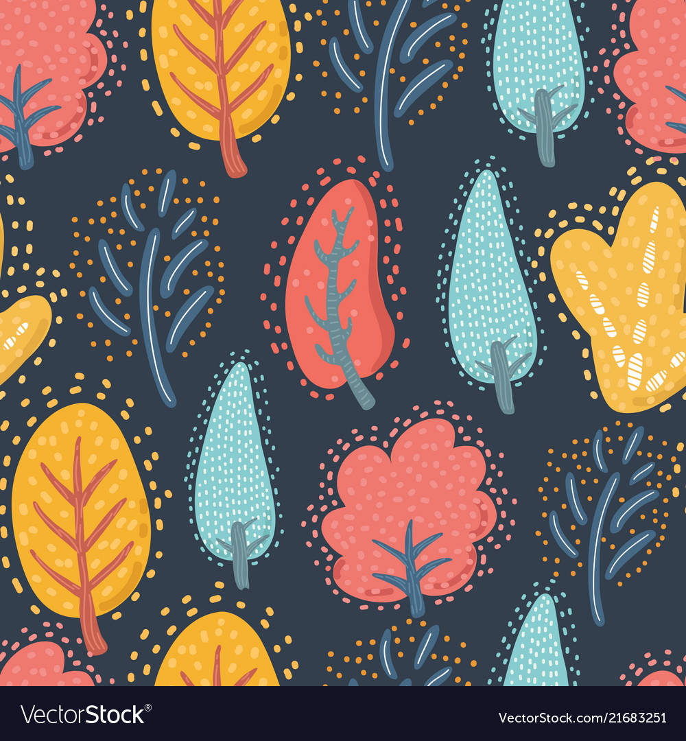Seamless pattern floral template
