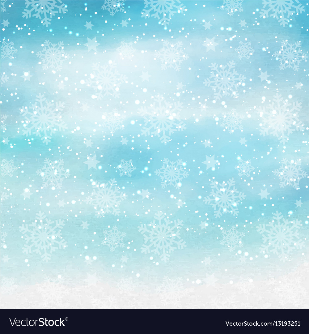 Watercolor christmas snowflakes 2410