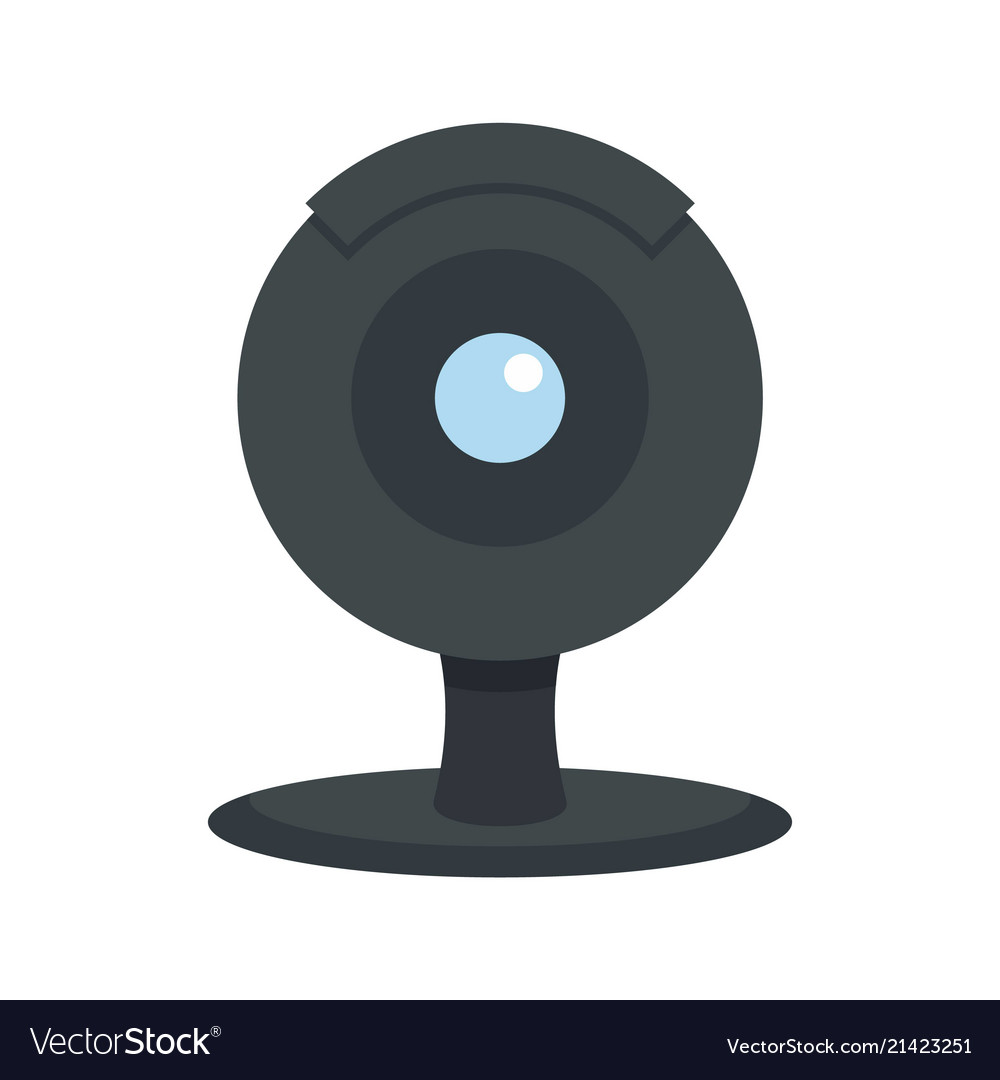 Web camera icon flat style