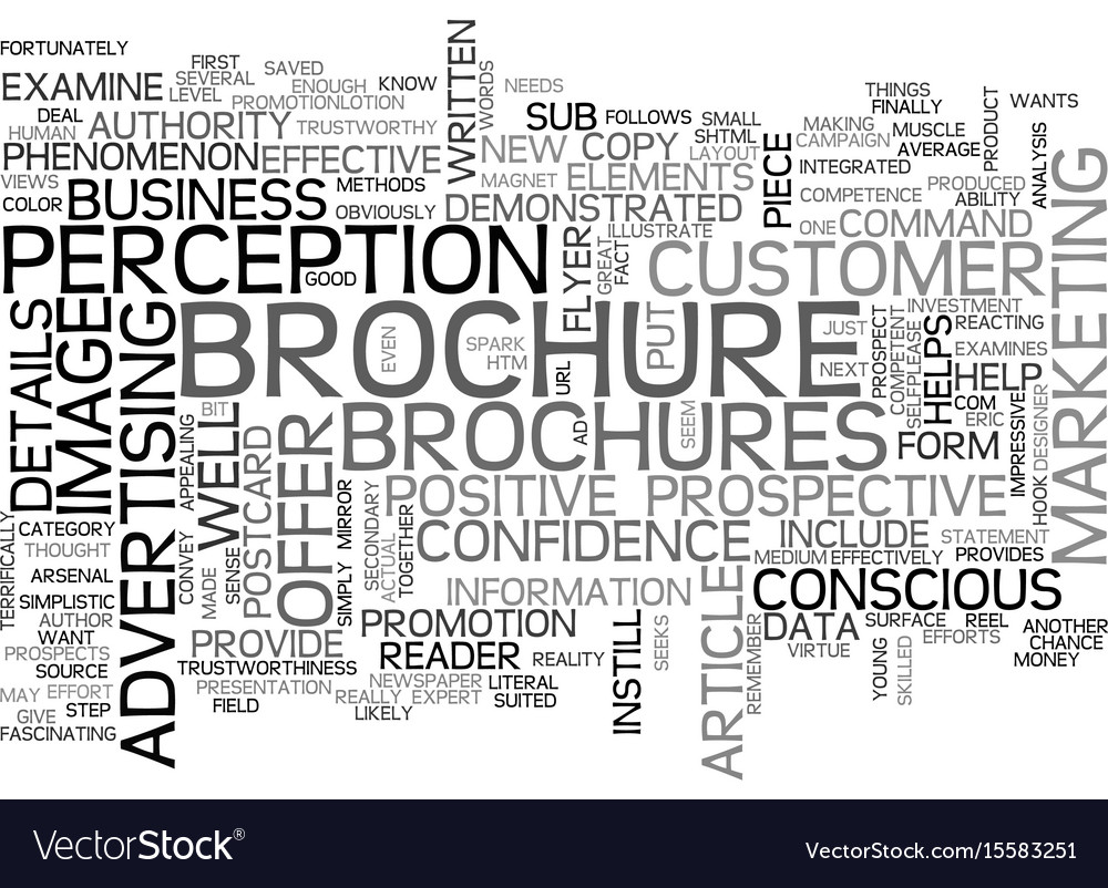 Why brochures are effective text word cloud vector image