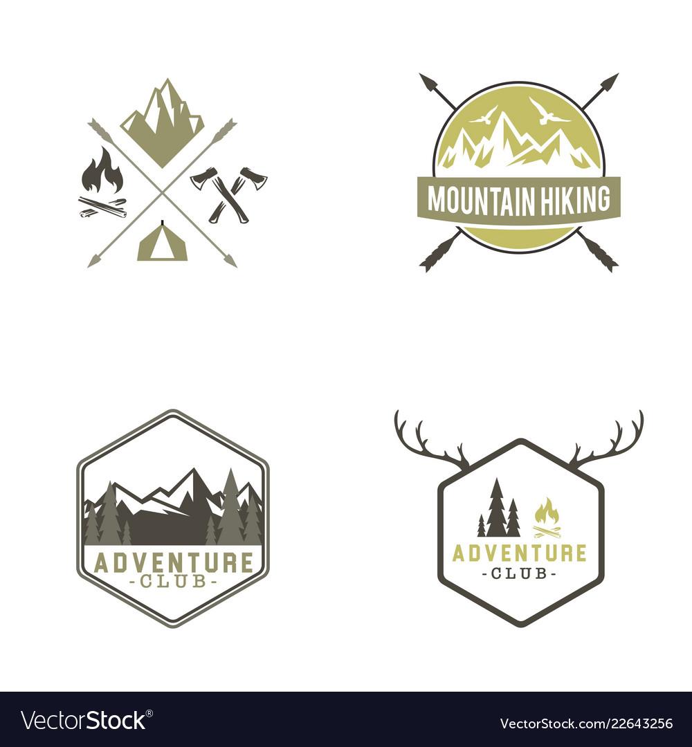 Adventure badges logo design