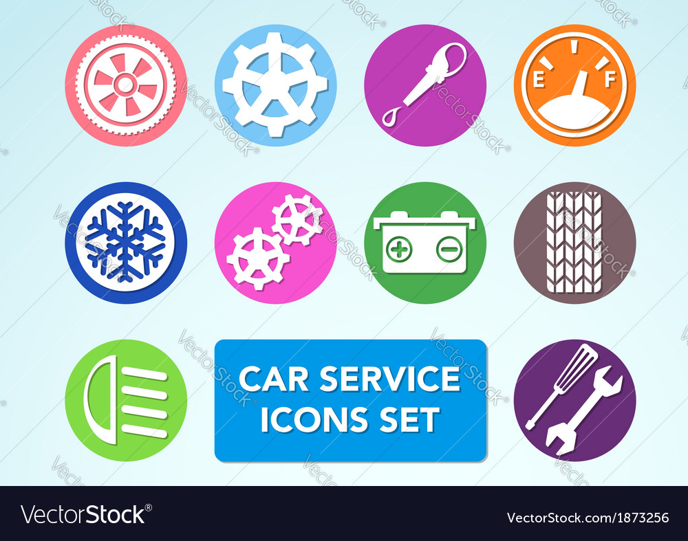 Car minimalistic icons set