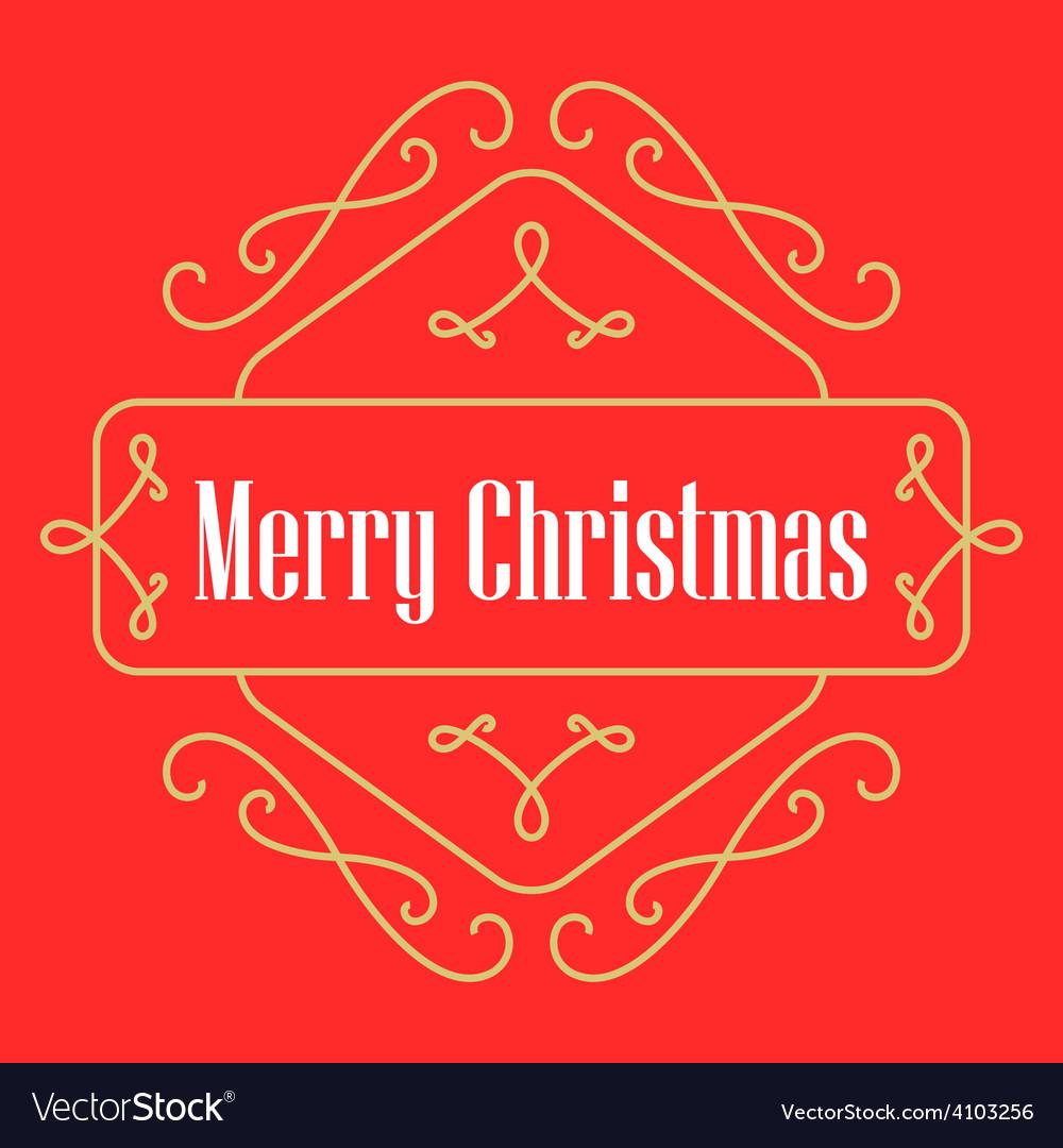 christmas monograms festive card lineart holiday vector image - Christmas Monograms