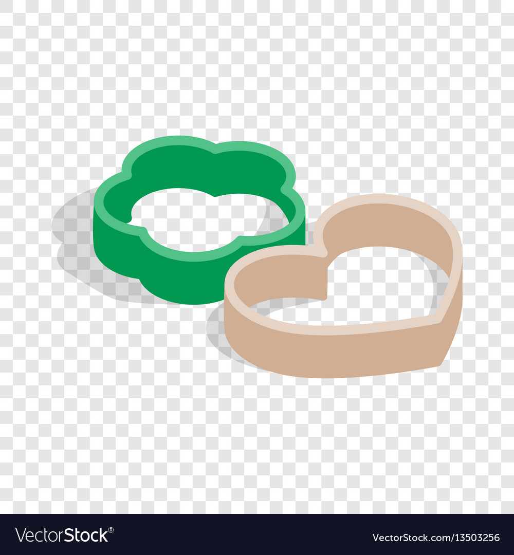 Cookie cutters isometric icon