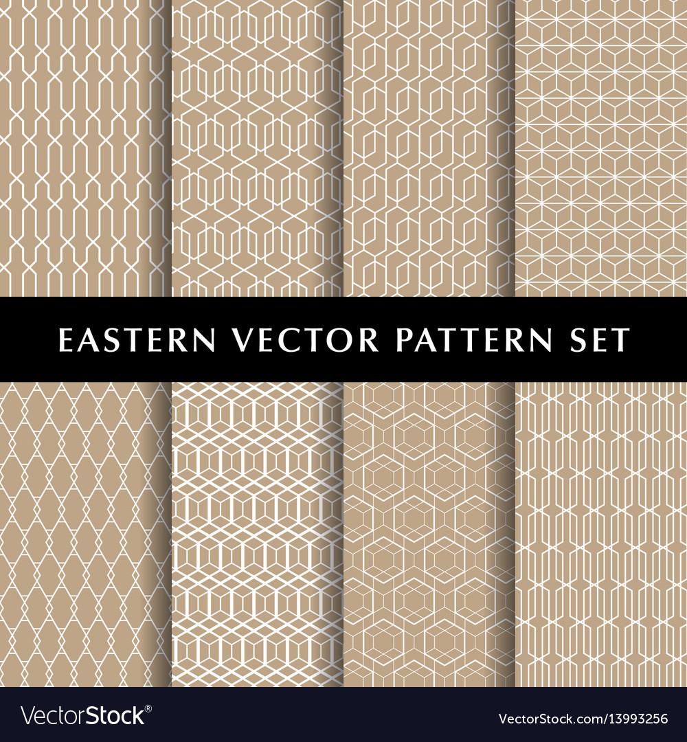 Eastern hexagon pattern pack vector image