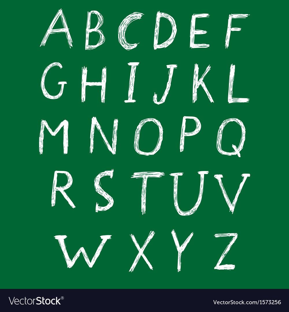 Hand drawn alphabet design