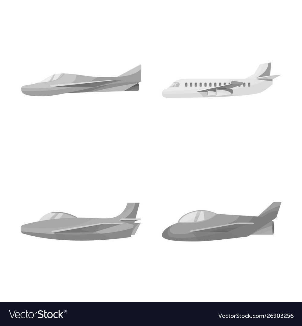 Isolated object aviation and airline logo set
