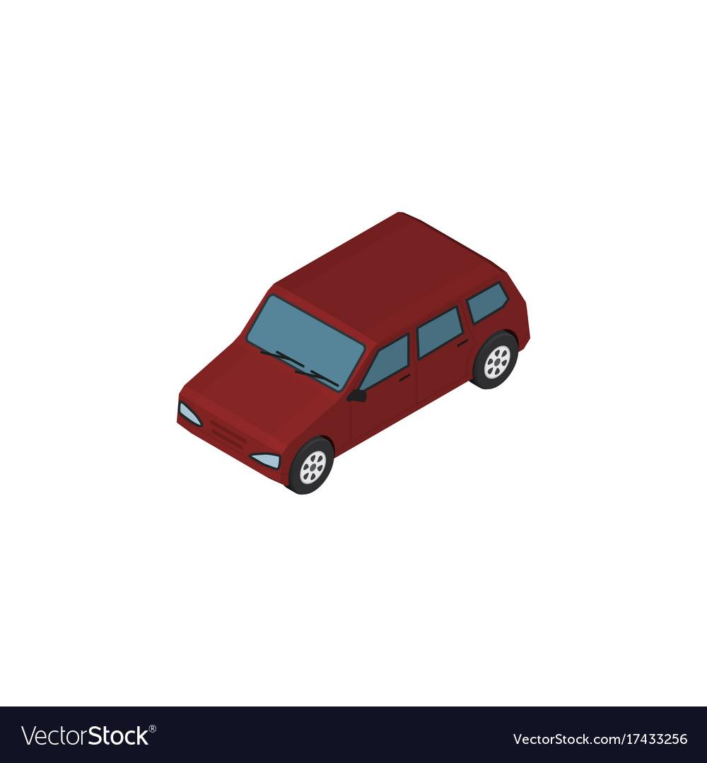 Isolated sedan isometric car element ca