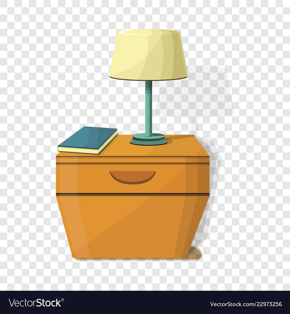 Night stand lamp icon cartoon style