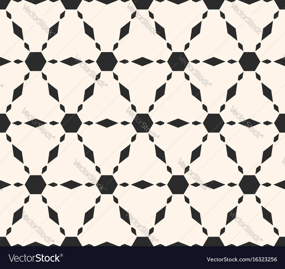 Ornamental pattern repeat tiles hexagons vector image