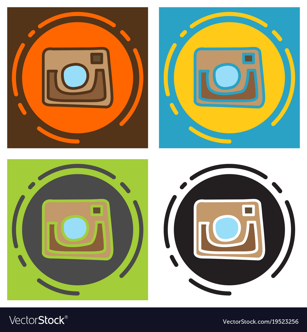 Set of unusual look web icon of modern lineart