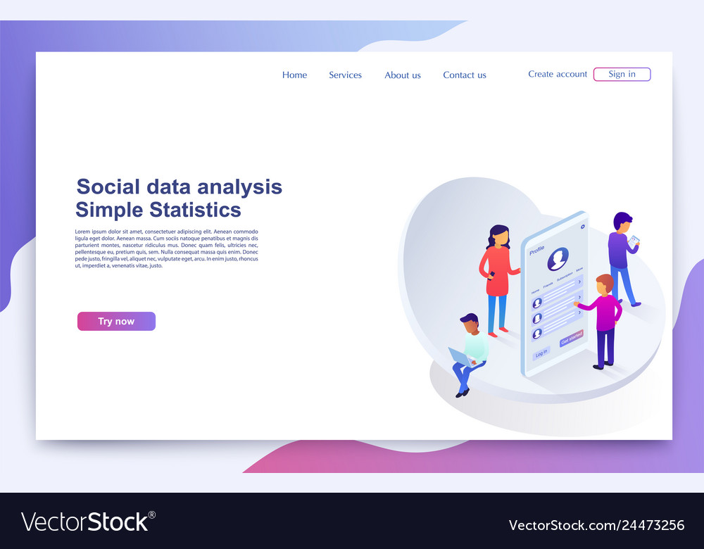 Team of people analyzing customer profiles