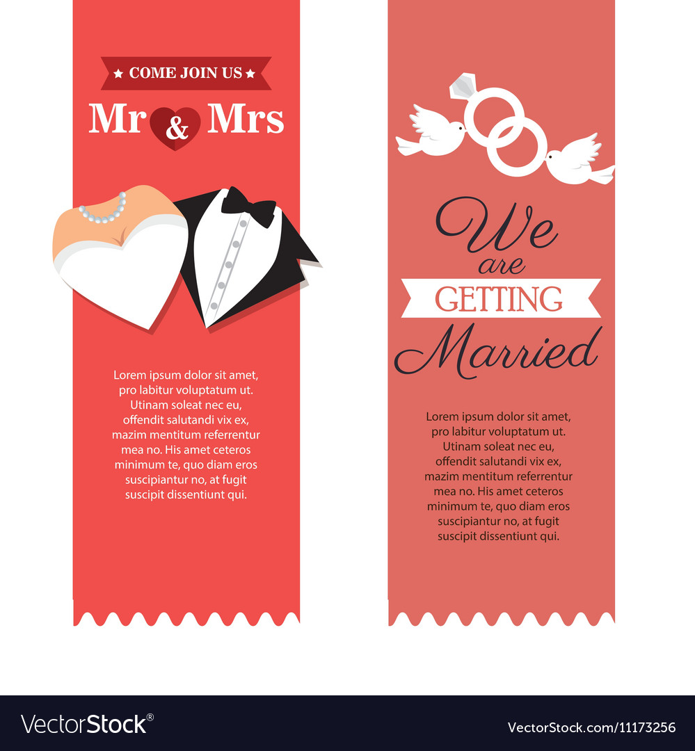 Wedding invitation card icon Royalty Free Vector Image