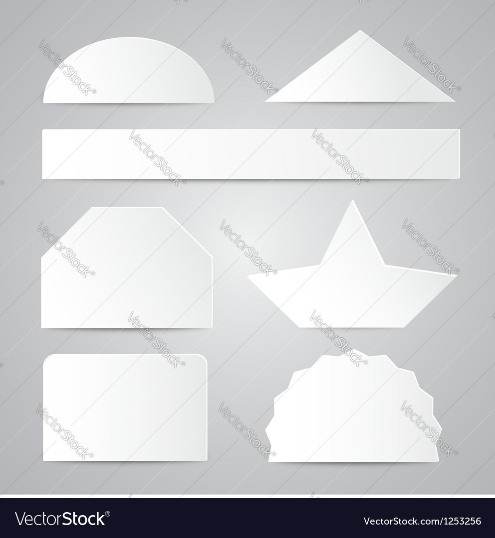 White paper shapes vector