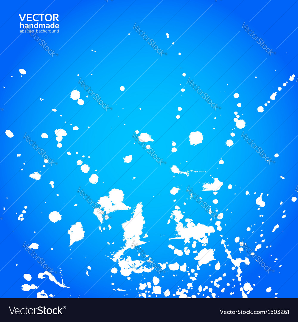 Blue background with splashes of white paint