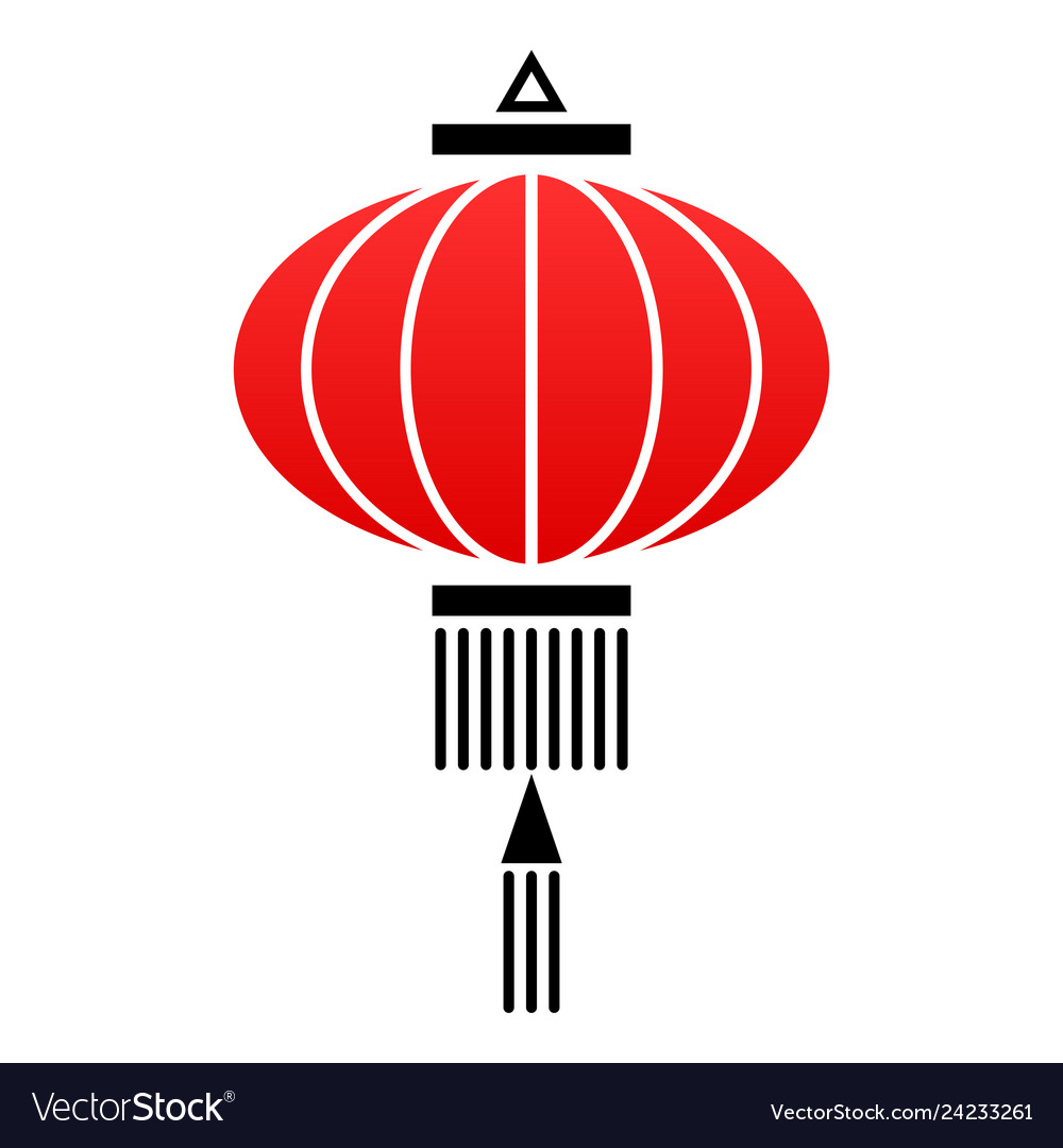 Chinese Lantern Icon Royalty Free Vector Image