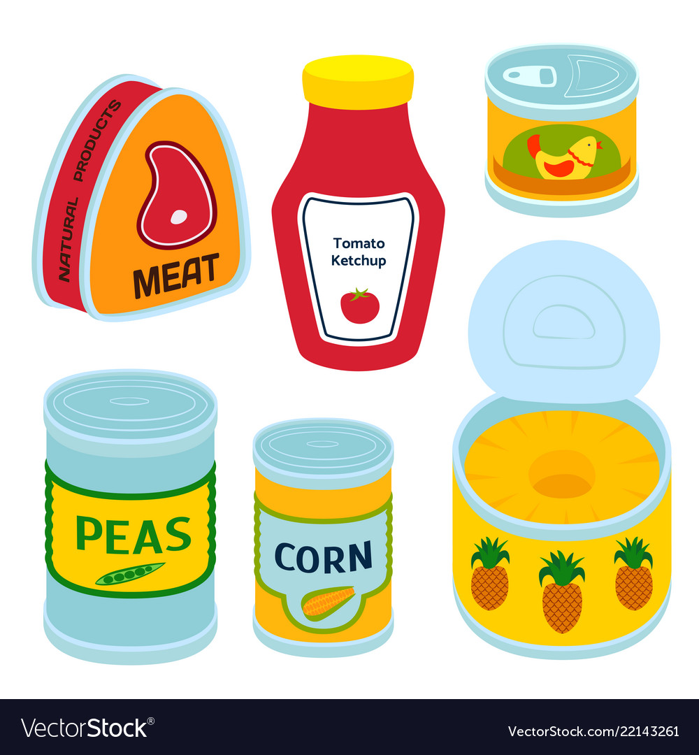 Collection of various tins canned goods food metal