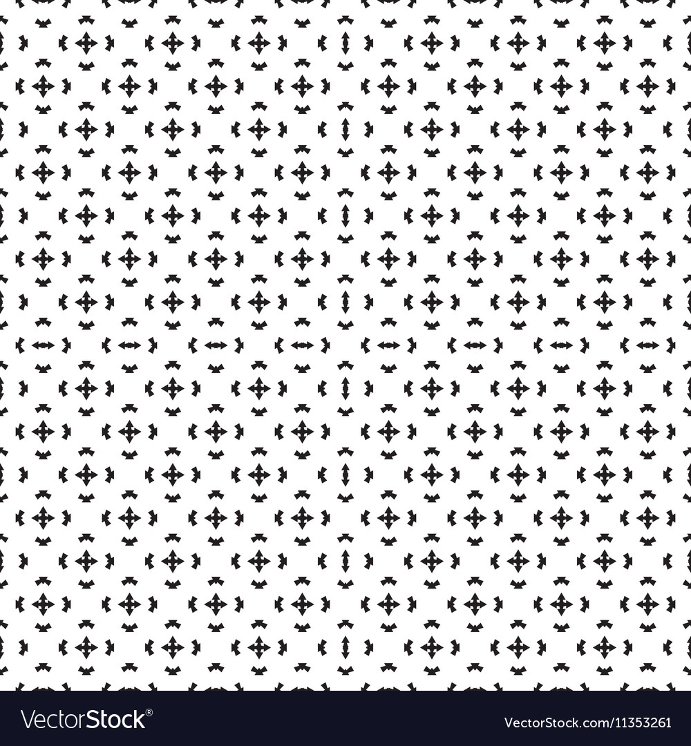 Monochromatic seamless background with arrows vector image