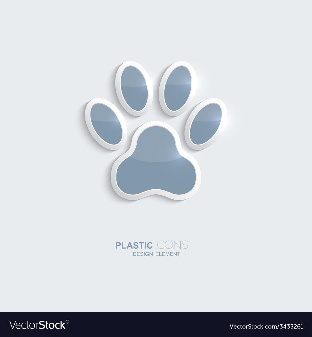 Plastic icon footprint symbol vector image
