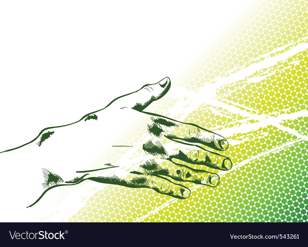 Simple hand reaching out vector image