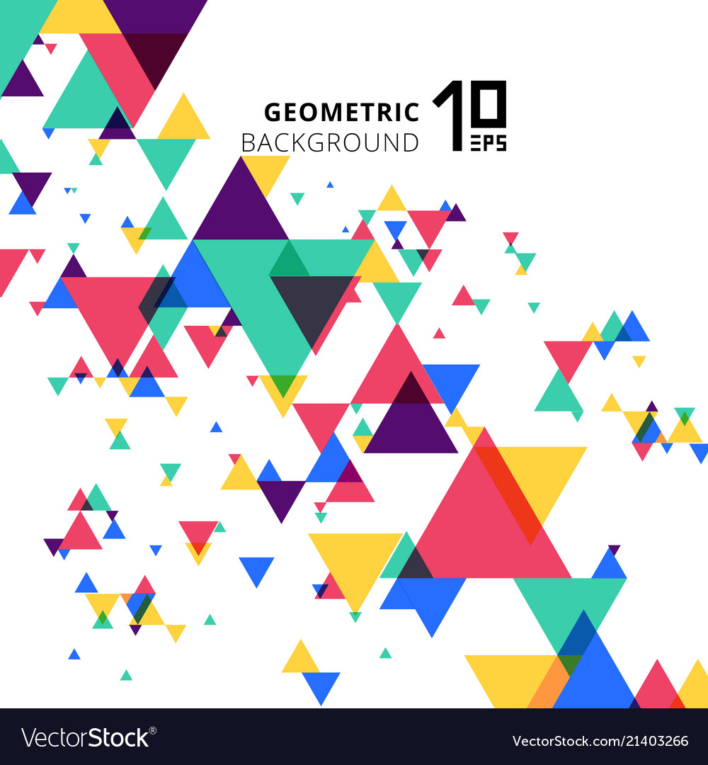 Abstract colorful and creative modern geometric