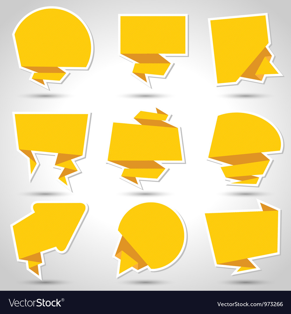 Abstract origami speech bubble background Eps 10