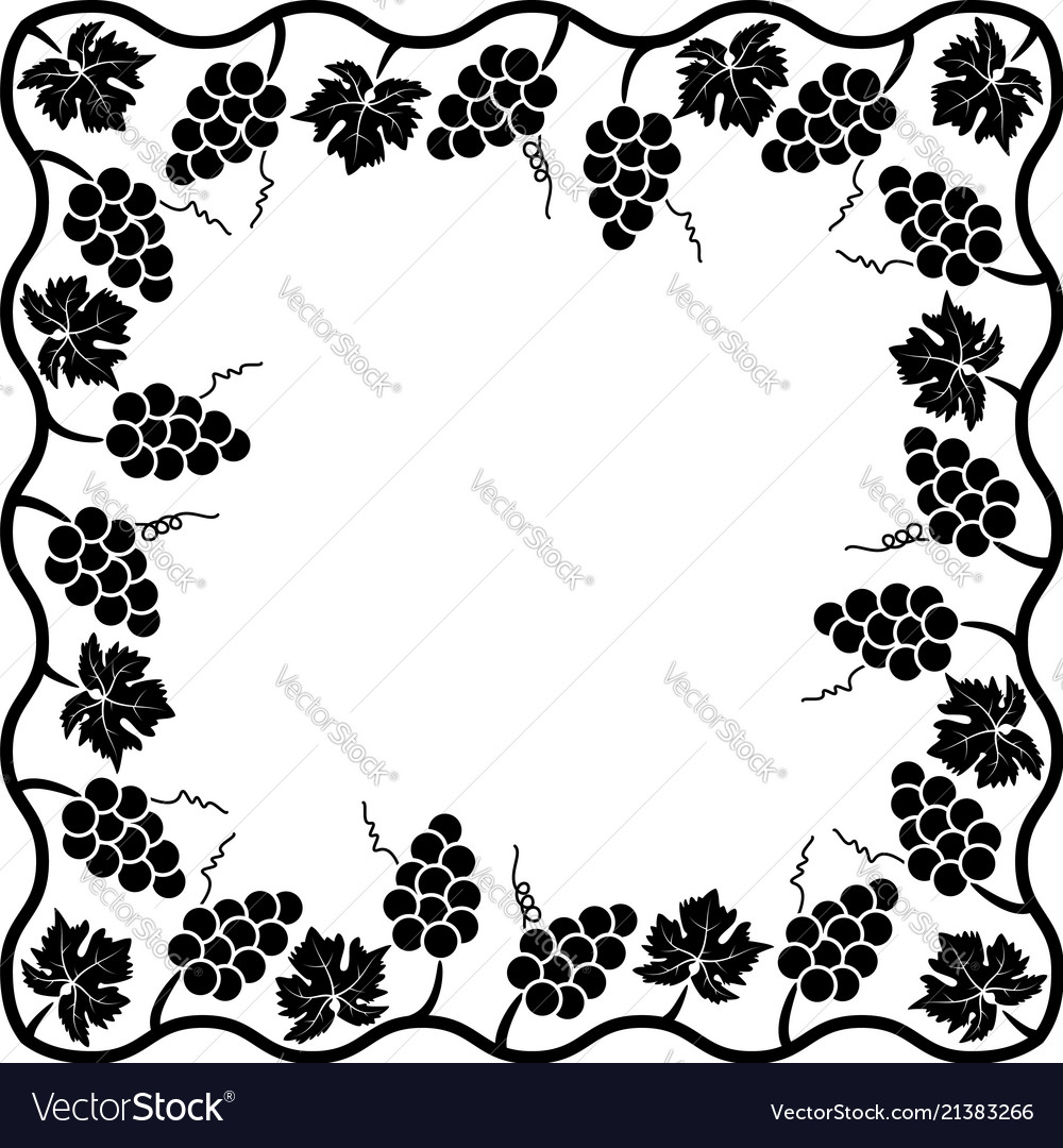 Background decoration of grape vine