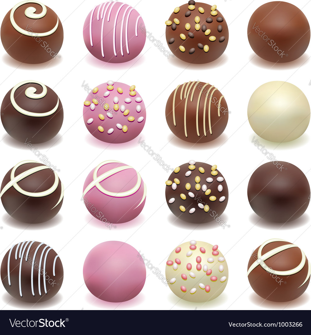 Chocolate candies vector image