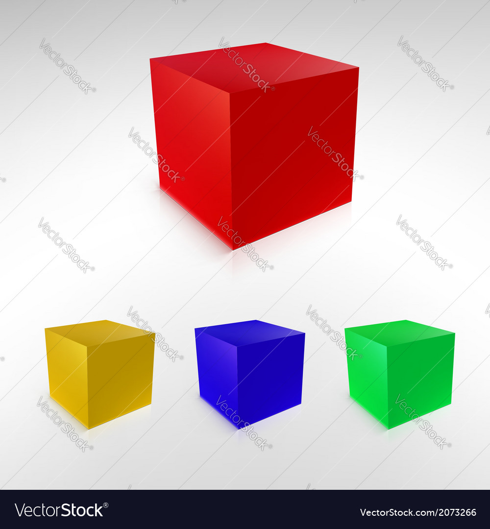 Cubes with reflections and shadows