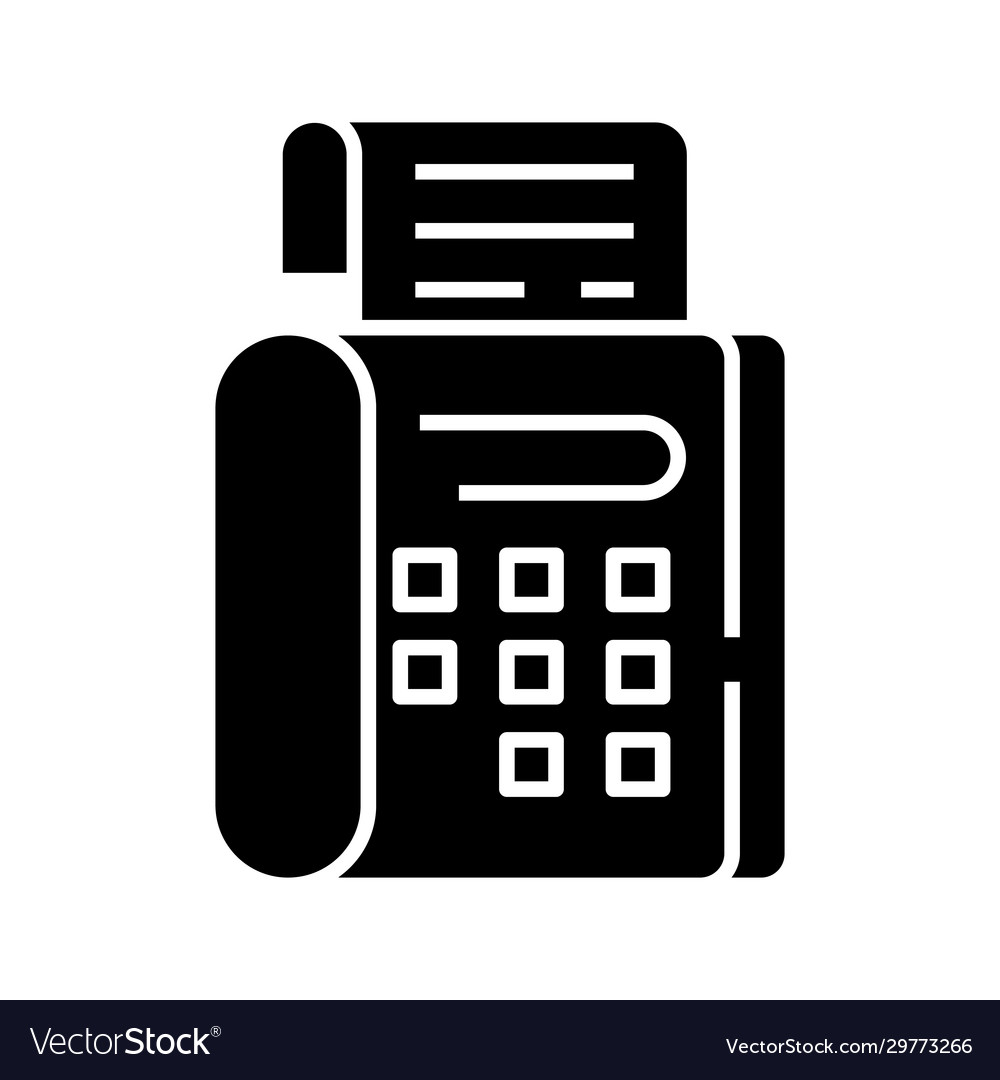 fax black icon concept flat royalty free vector image fax black icon concept flat royalty free vector image