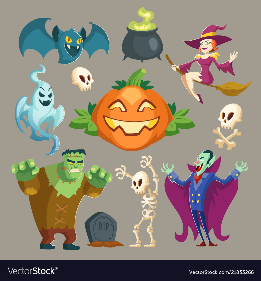 Halloween characters october holiday
