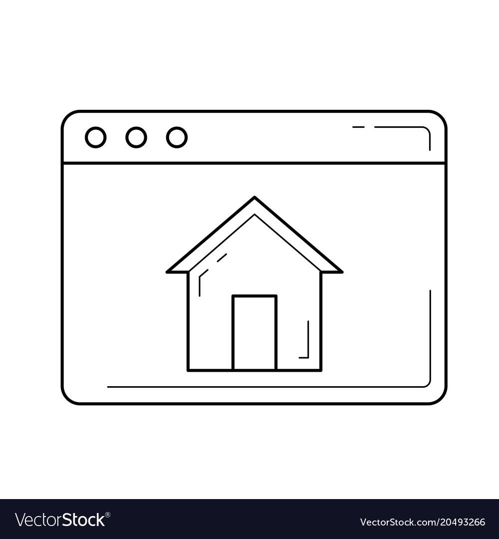 Home window line icon