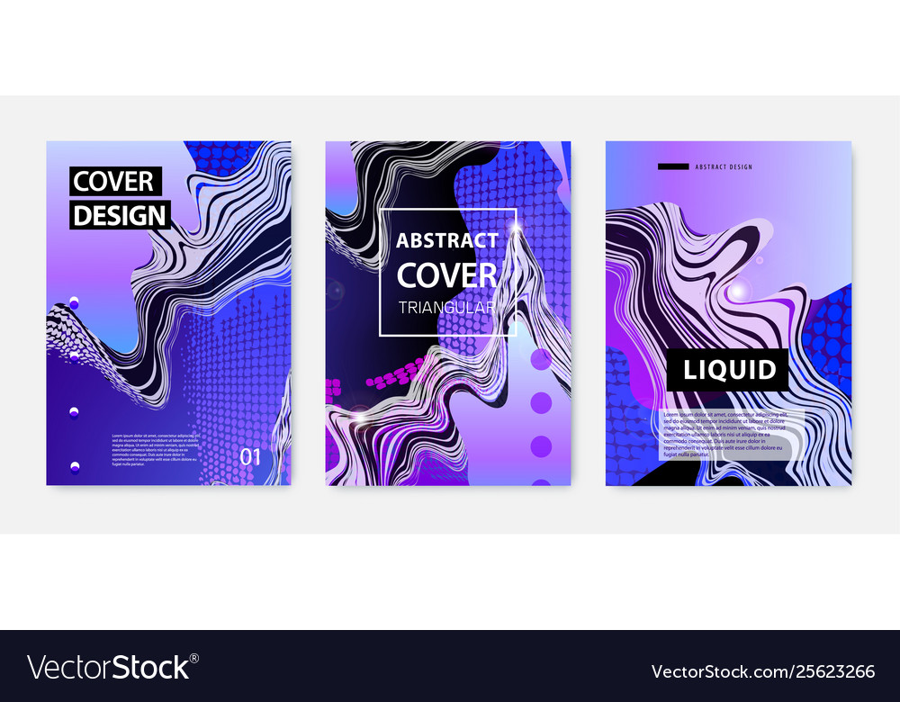 Set abstract fluid creative templates